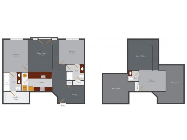 Three Bedroom 2 | Pencil Factory Flats