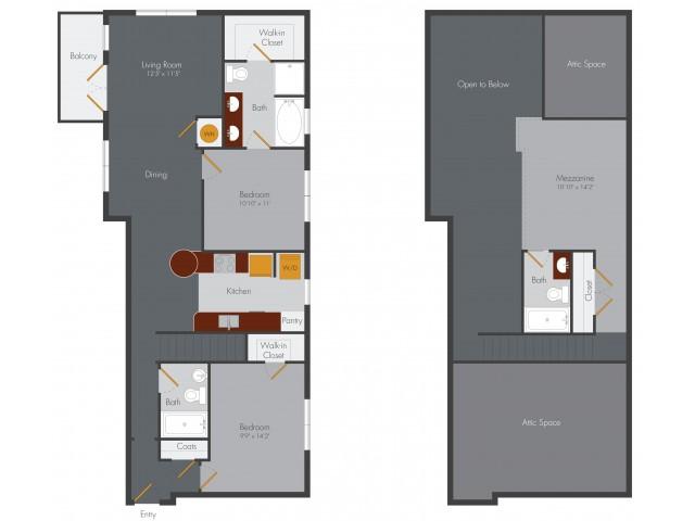 Two Bedroom 13 | Pencil Factory Flats