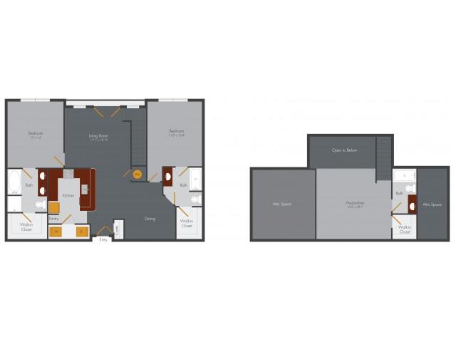 Two Bedroom 14 | Pencil Factory Flats