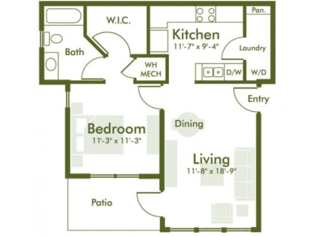Floor Plan | Kyle TX Apartments | The Strand