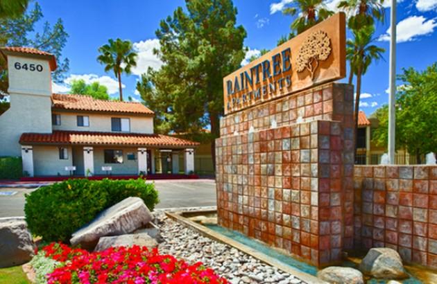 Raintree Apartments entrance | Apartments in Tucson