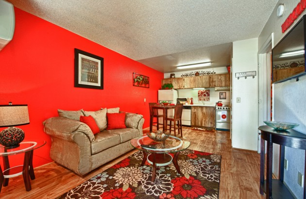 Spacious living rooms at our Tucson Apartments