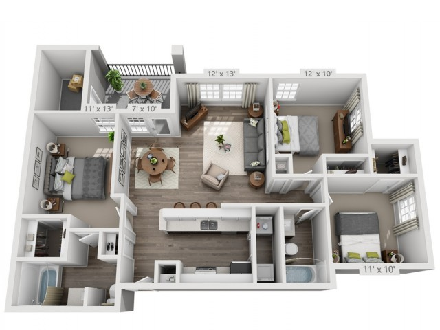 Floor Plan 2   Alara Hedges Creek
