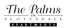 The Palms on Scottsdale Logo | One Bedroom Apartments In Tempe | The Palms on Scottsdale