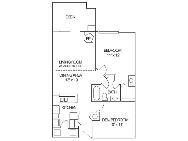 2 Bedroom Floor Plan | Apartments For Rent Indianapolis | Island Club