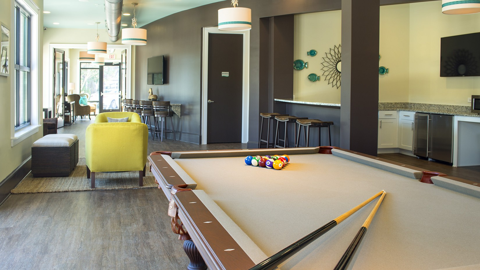 Residents Playing Pool | Apartments For Rent Mount Pleasant SC | Riviera at Seaside
