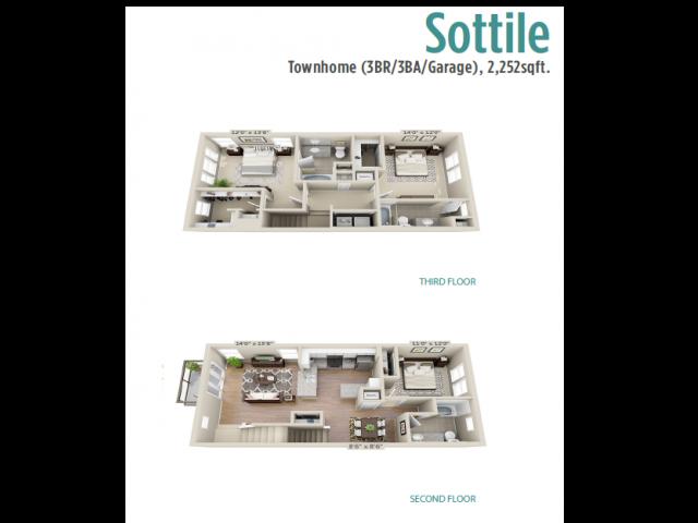 Floor Plan 7 | Mount Pleasant SC Apartments | Riviera at Seaside