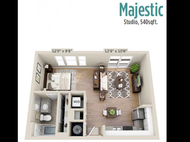 Floor Plan 4 | Mount Pleasant Apartment | Riviera at Seaside