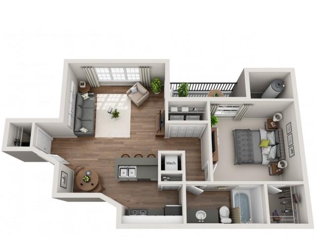 1 Bed / 1 Bath Apartment in Austin TX | Terrazzo Apartments