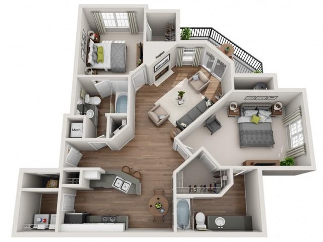 Floorplan 3 | Terrazo Apartments | Austin TX