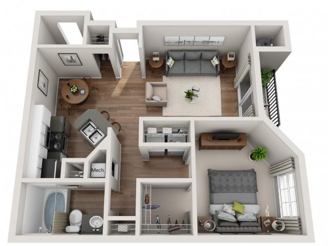 Floorplan 5 | Terrazo Apartments