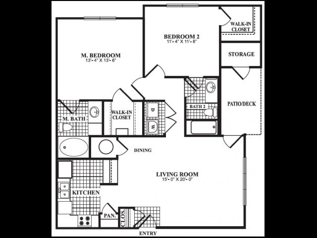 Floor Plan 4 | Luxury Apartments In Marietta GA | Bellingham Apartments