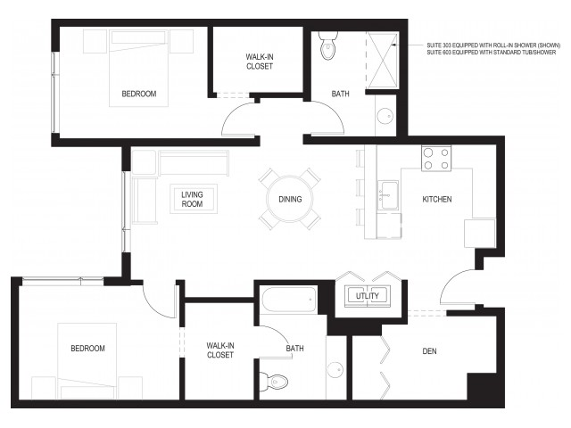 Floor Plan 9 | Renton Apartments For Rent
