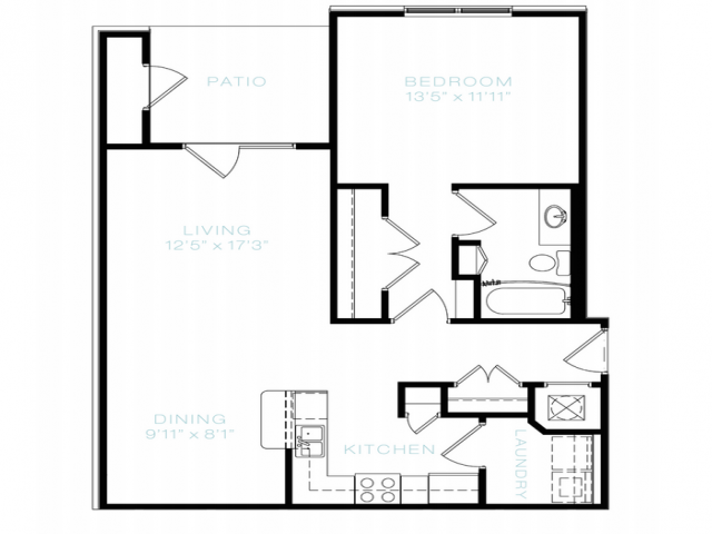 Floor Plan 1 | Apartments In White House TN | The Standard at White House