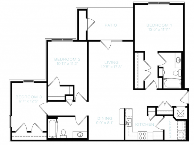 Floor Plan 6 | White House Apartments | The Standard at White House