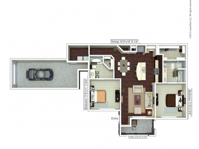 Floor Plan 1 | Apartments In Houston | Valencia Place