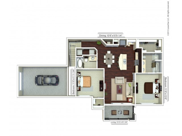 Floor Plan 2 | Houston TX Apartment | Valencia Place