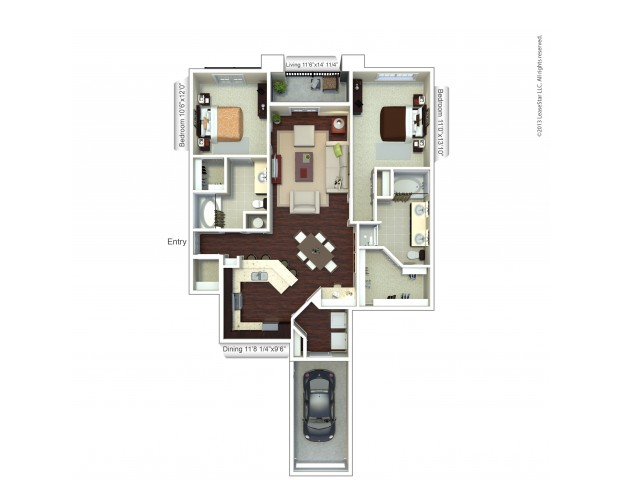 Floor Plan 4 | Apartments In Houston TX | Valencia Place