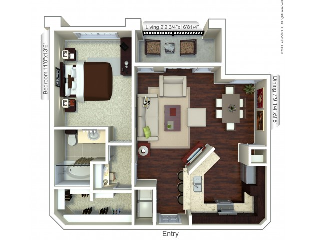 Floor Plan 5 | Apt For Rent Houston | Valencia Place