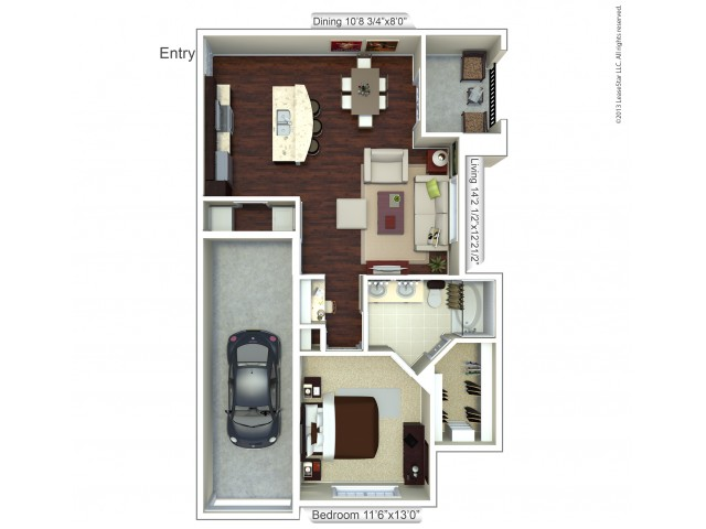 Floor Plan 6 | Apartments In Houston | Valencia Place