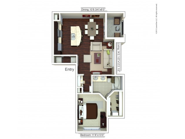 Floor Plan 7 | Houston TX Apartment | Valencia Place