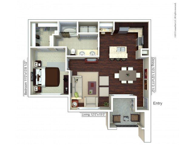 Floor Plan 8 | Apartments Houston | Valencia Place