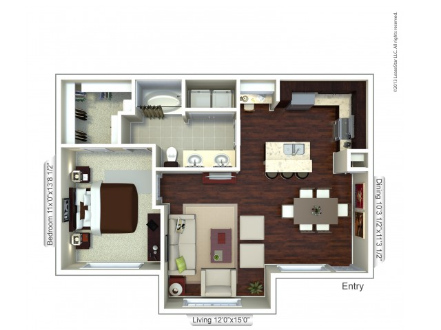 Floor Plan 9 | Apartments In Houston TX | Valencia Place