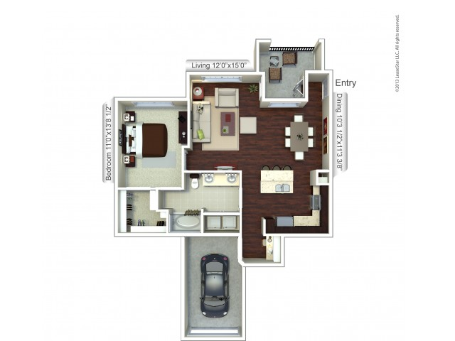 Floor Plan 10 | Apt For Rent Houston | Valencia Place