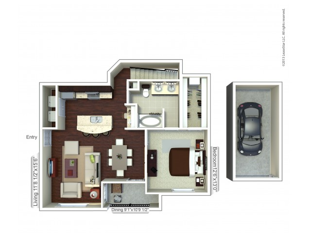 Floor Plan 11 | Apartments In Houston | Valencia Place