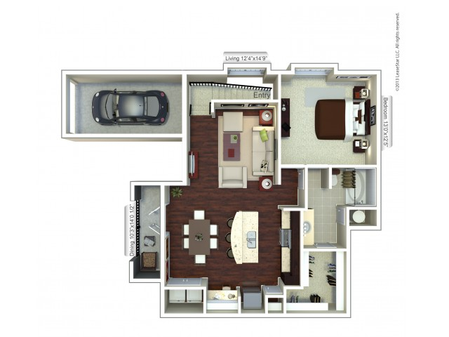 Floor Plan 13 | Apartments Houston | Valencia Place