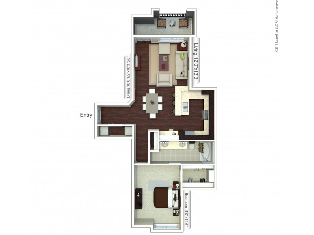Floor Plan 14 | Apartments In Houston TX | Valencia Place