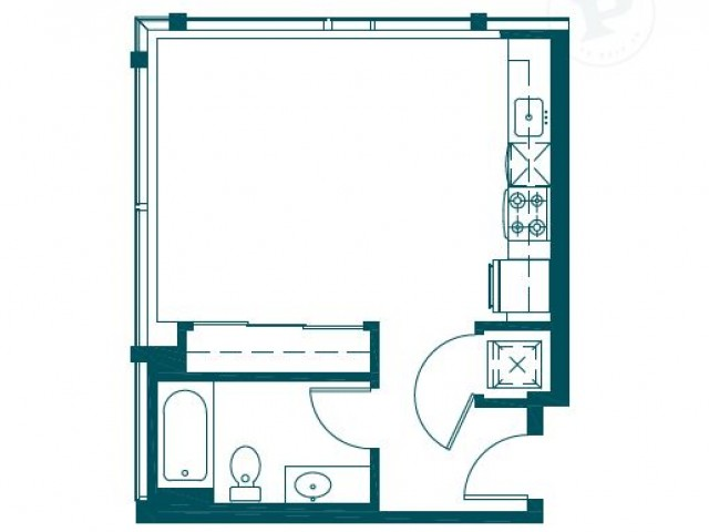 Floor Plan 6 | Seattle Luxury Apartments Downtown | The Post