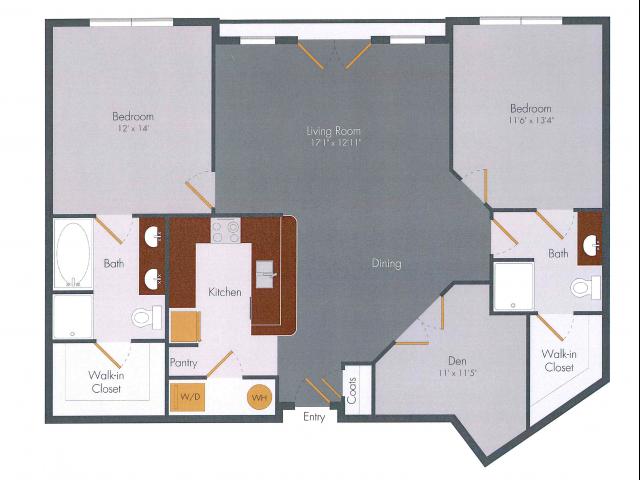 Two Bedroom 6 | Pencil Factory Flats