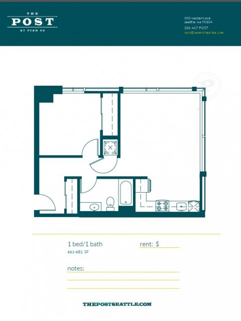 Floor Plan 13 | Seattle Luxury Apartments | The Post
