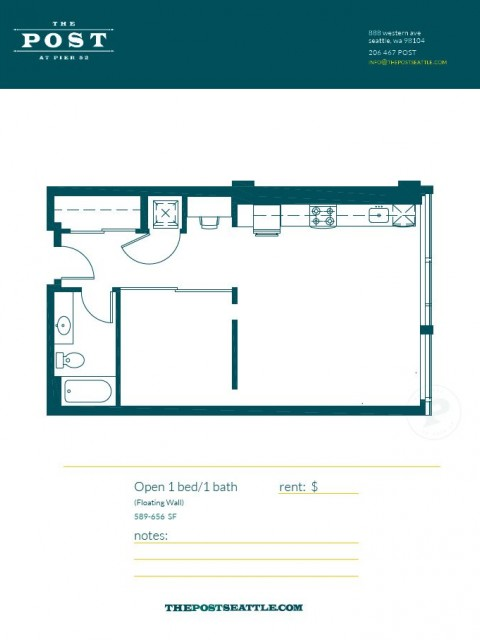 Floor Plan 11 | Seattle Luxury Apartments Downtown | The Post
