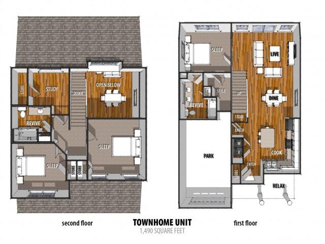 3 Bdrm Floor Plan | Apartments For Rent Laredo TX | La Contessa