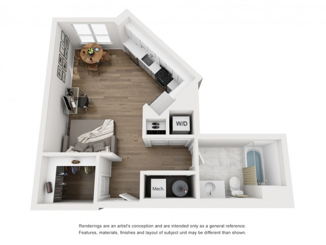 Floor Plan 1 | Somerville Luxury Apartments | Montaje
