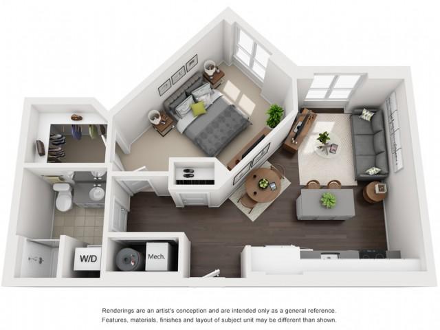 Floor Plan 6 | Somerville Luxury Apartments | Montaje