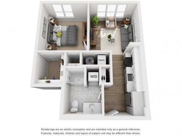 Floor Plan 8 | Somerville Apartments | Montaje