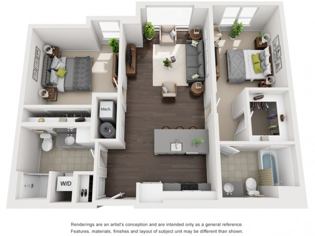 Floor Plan 13 | Somerville Apartments | Montaje