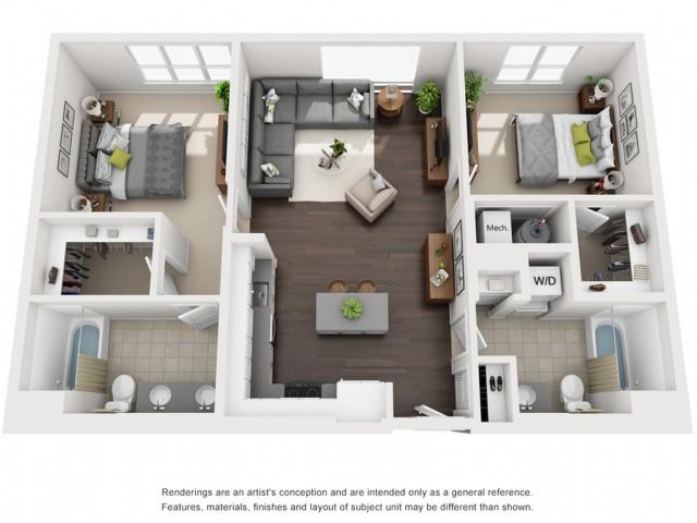 Floor Plan 16 | Somerville Luxury Apartments | Montaje