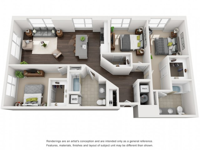 Floor Plan 17 | Apartment For Rent Somerville MA | Montaje