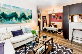 Elegant Living Room   Apartments in OKC  Cambridge Landing
