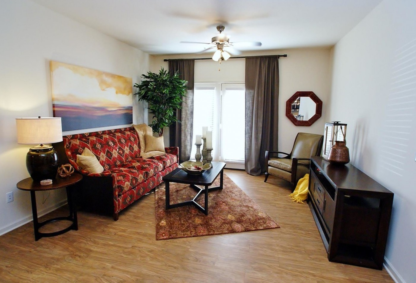 Residents Lounging in the Living Room | Apartments Smyrna TN | Copperfield 2