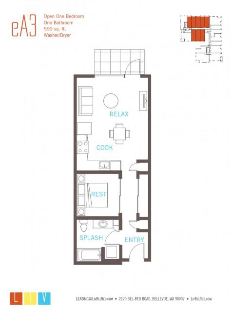 Floor Plan 7 | Bellevue Apartments | LIV