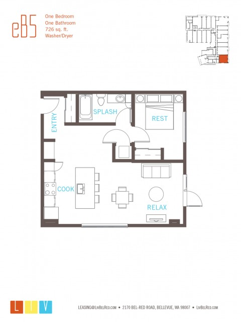 Floor Plan 17 | Bellevue Apartments | LIV