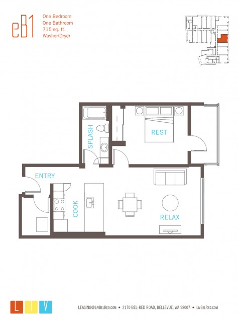Floor Plan 18 | Bellevue WA Apartments | LIV