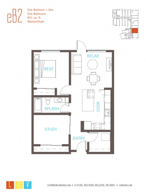 Floor Plan 26 | Apartments For Rent In Bellevue Washington | LIV
