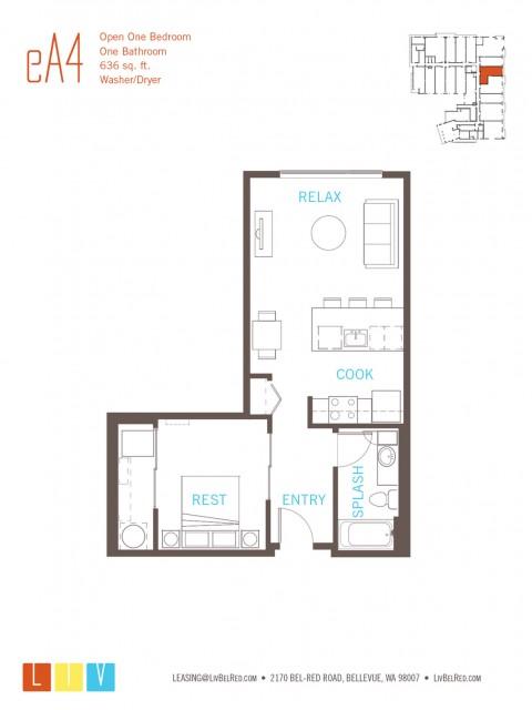 Floor Plan 12 | Bellevue Apartments | LIV