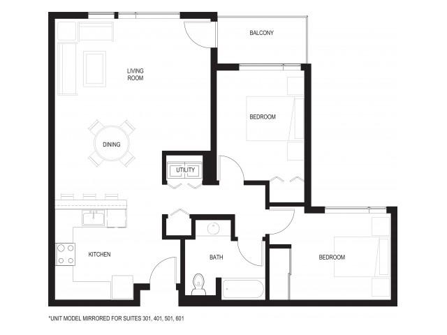 Floor Plan 8 | Renton Apartments For Rent